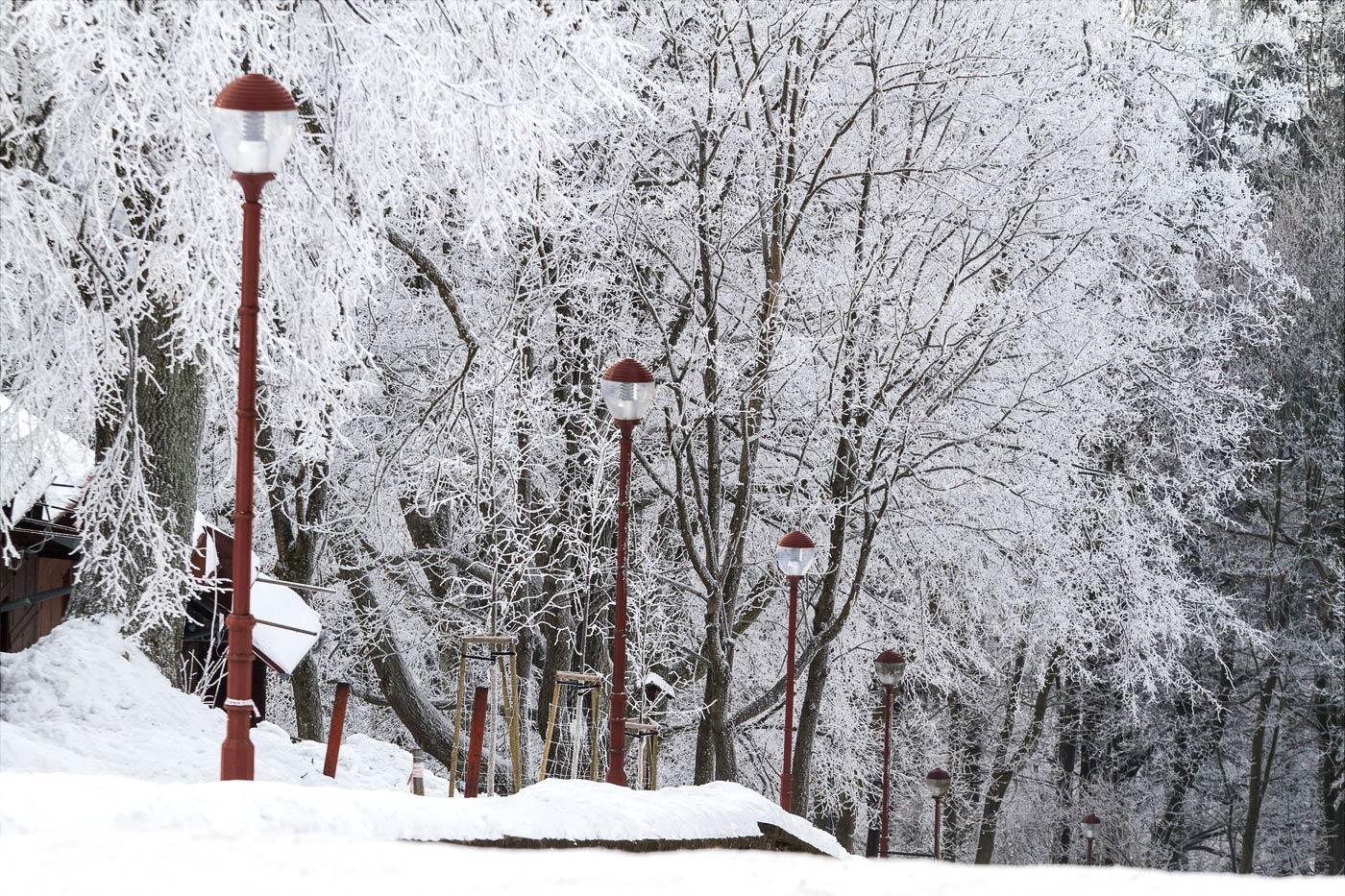 Зима на горе Святой Гостин в Моравии