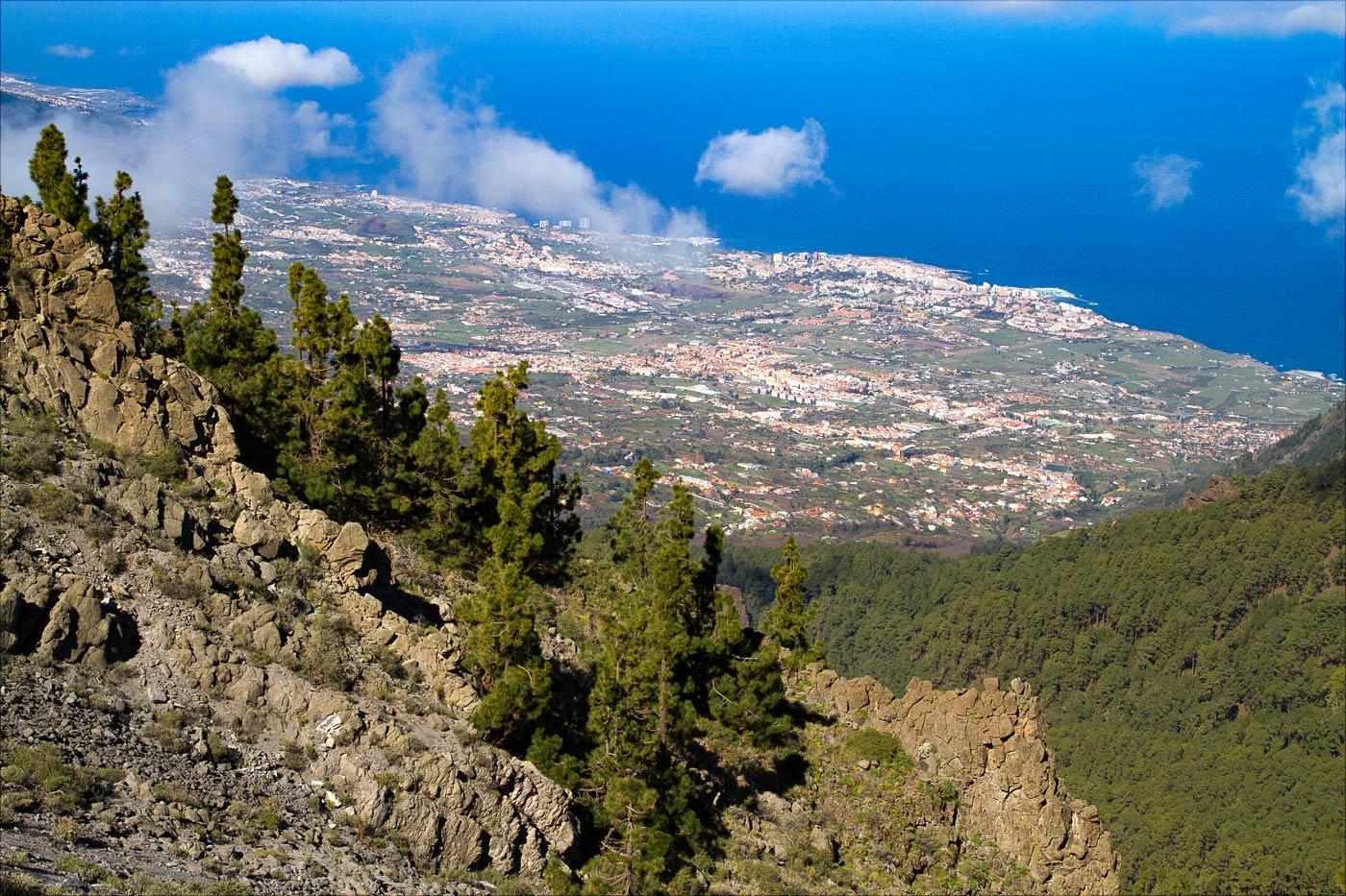 Вид на северо-востояное побережье острова Тенерифе