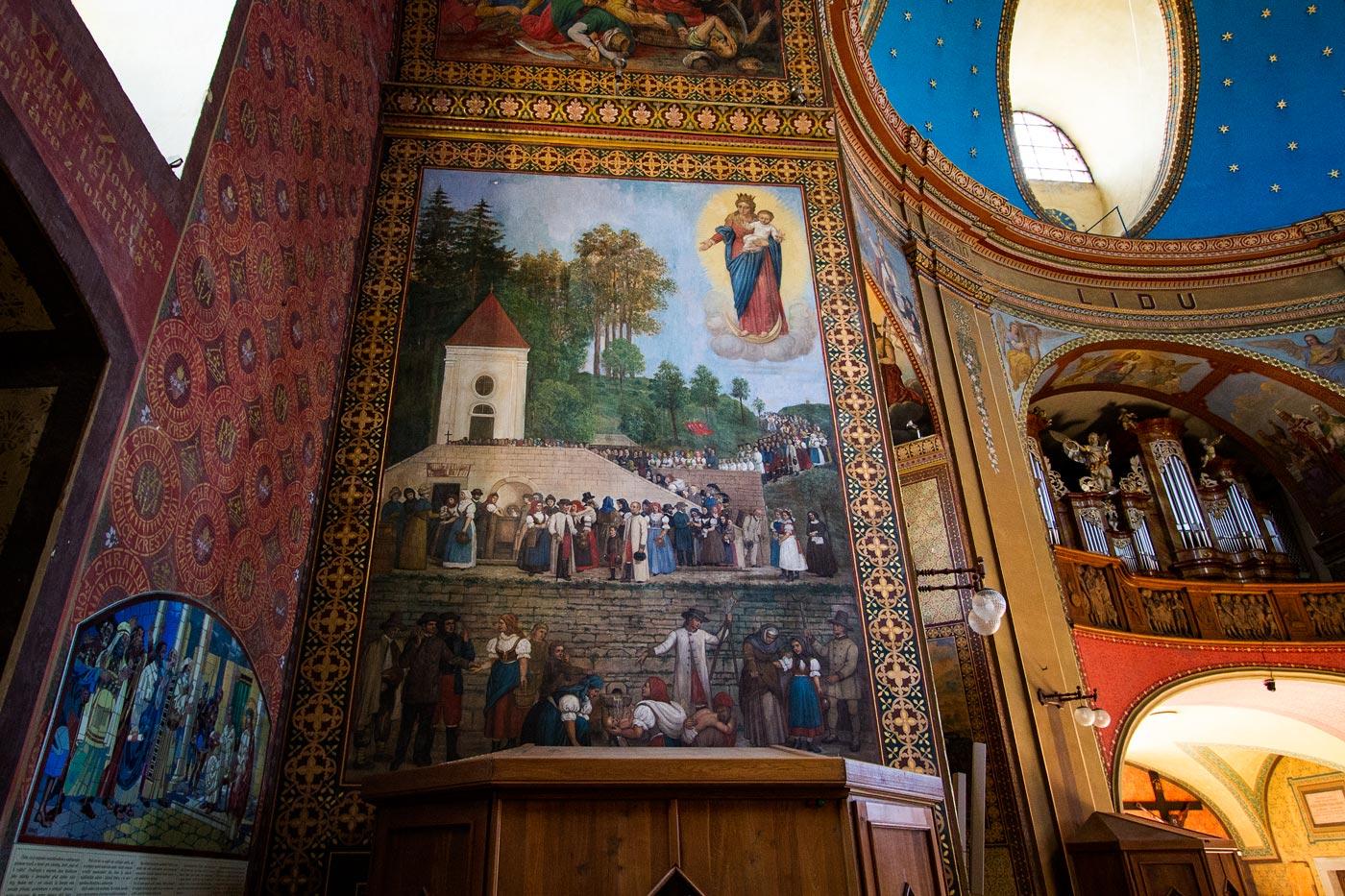 Интерьер базилики на горе Святой Гостин