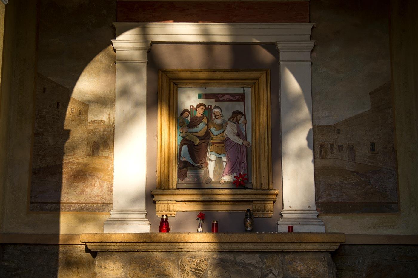 Старый крестный путь на горе Святой Гостин