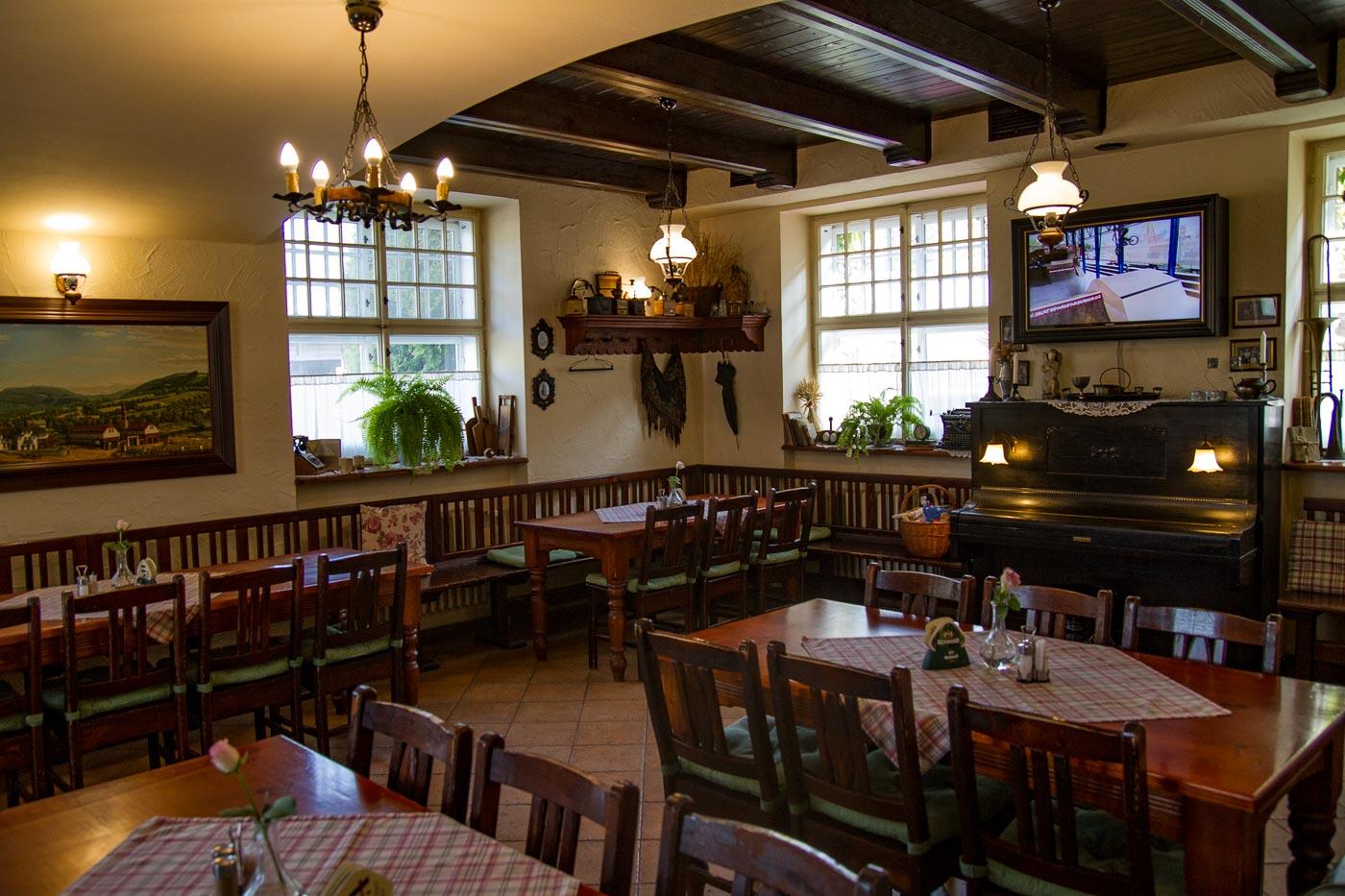 Ресторан пансиона Брусенка в Моравии