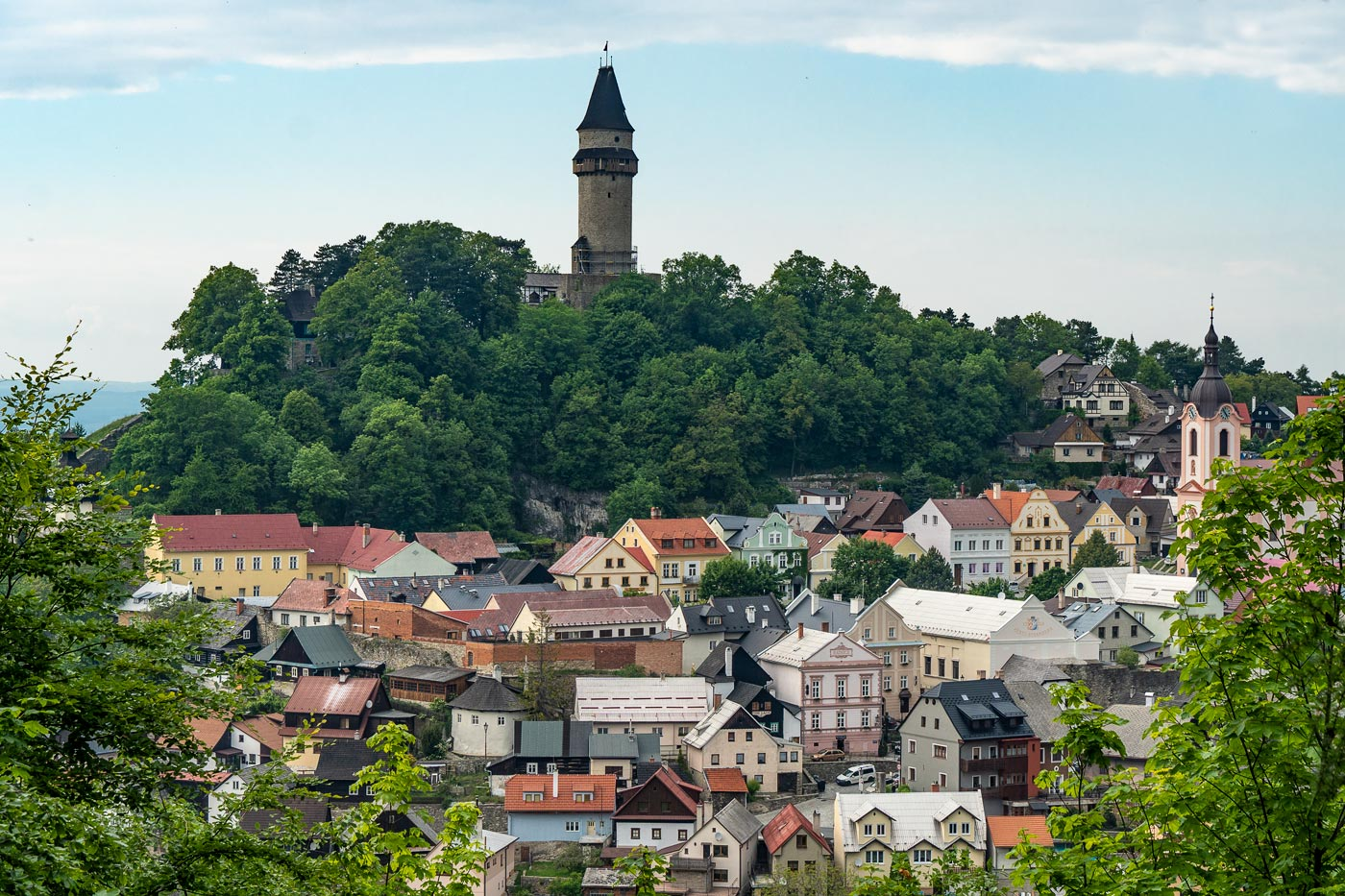 Штрамберк, замковая башня Труба