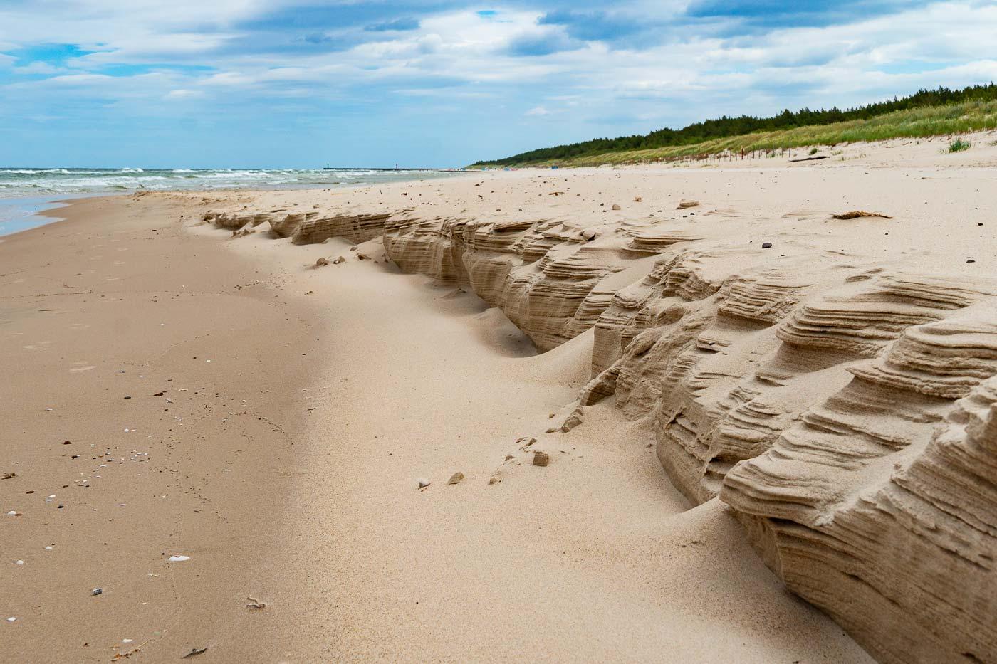 Песчаный пляж, Мржежино, Польша