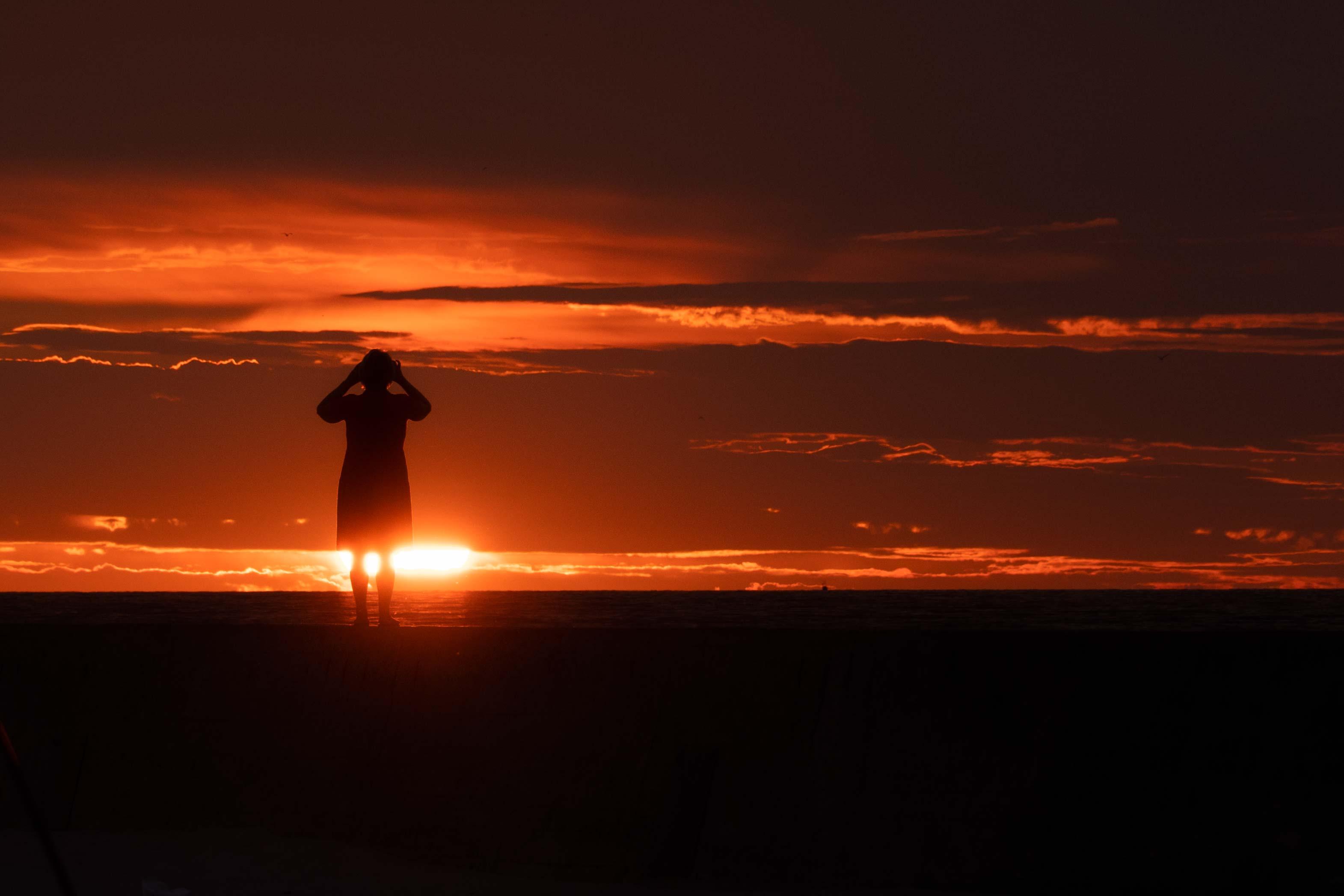 Закат в Мржежино, Польша