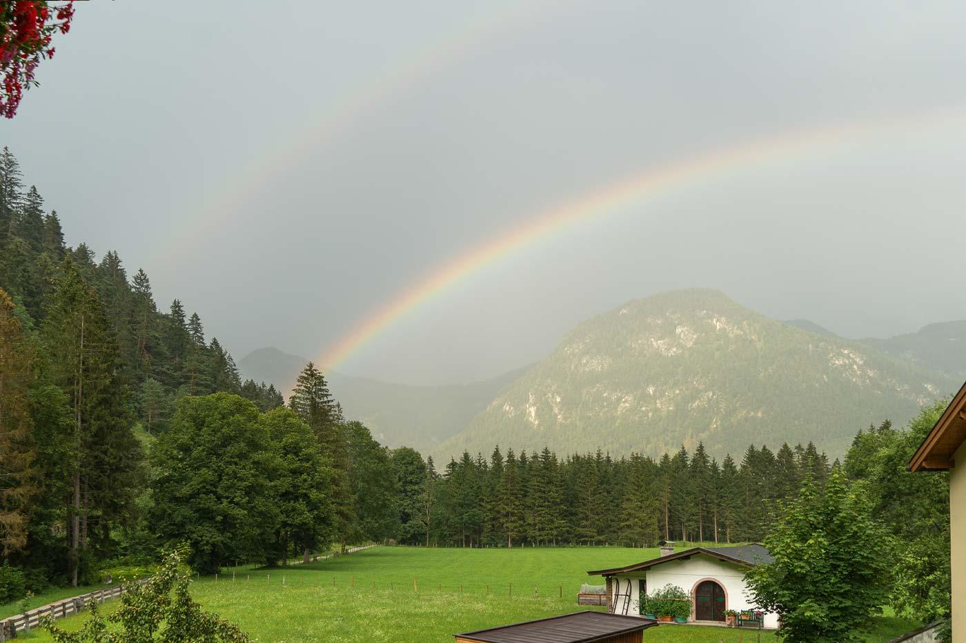 Радуга после ливня, Лофер, Австрия