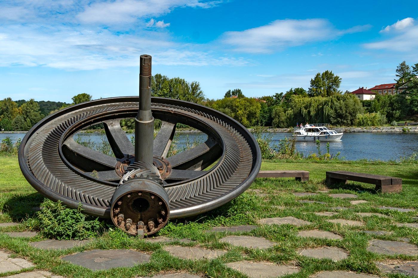 Передаточное колесо турбины гидроэлектростанции 1924 года, Кралупы над Влтавой