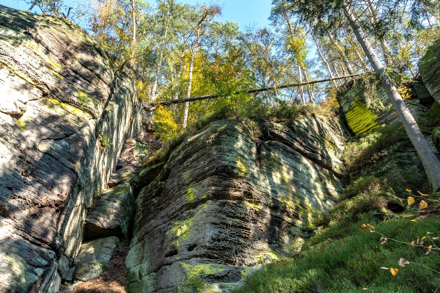 Скалы, природный заповедник Подтросецка удоли