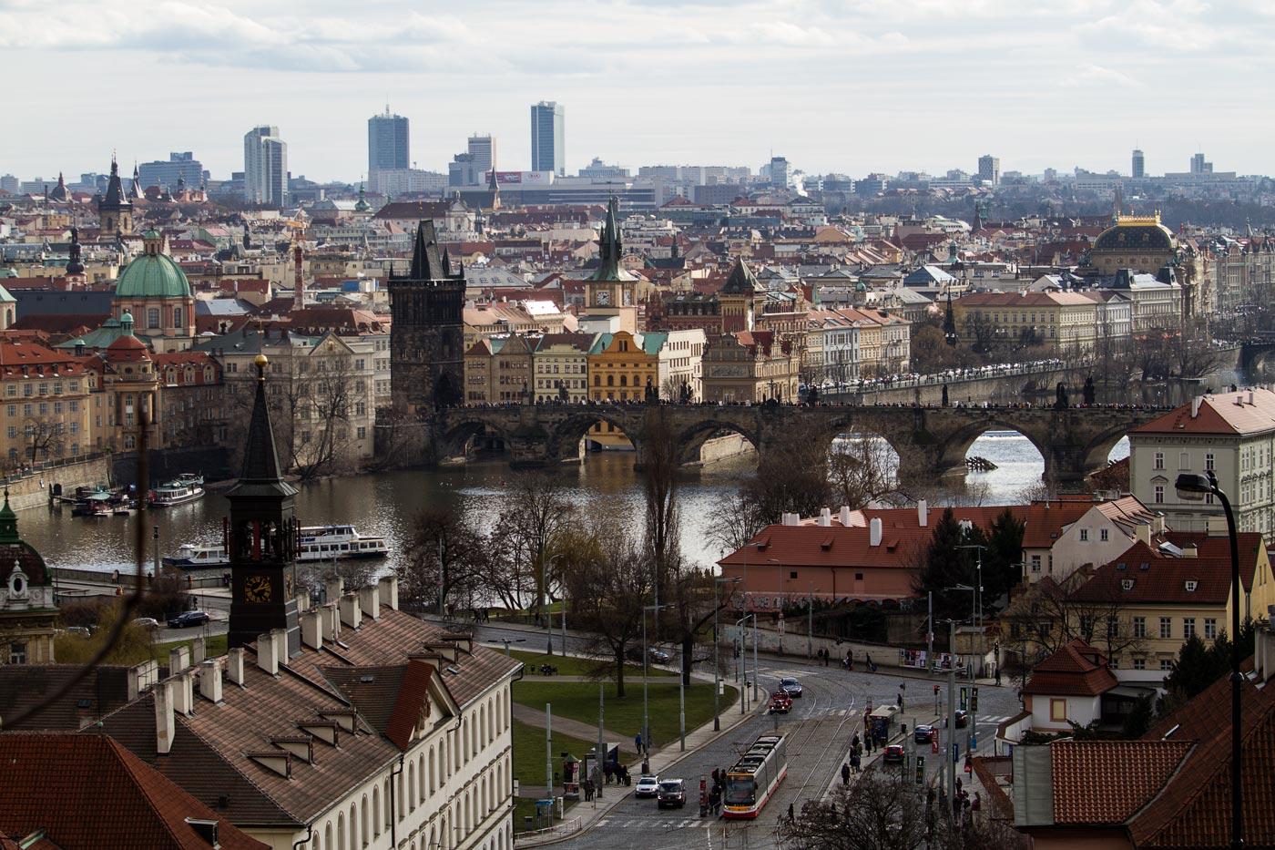 Вид на Прагу с Летенских садов