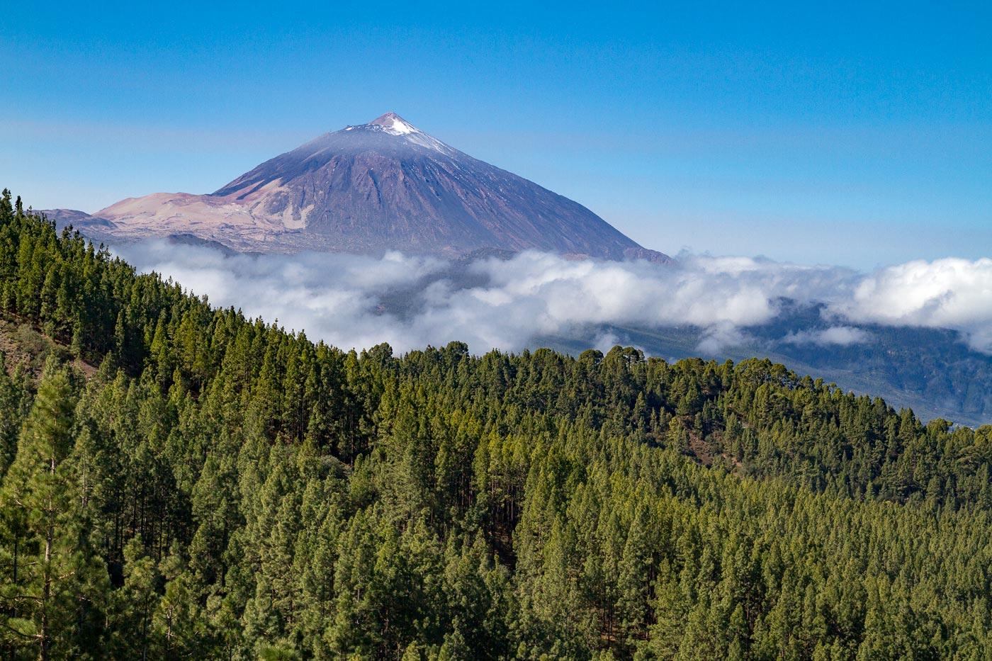 Тенерифе, вид на вулкан Тейде, 2017 год