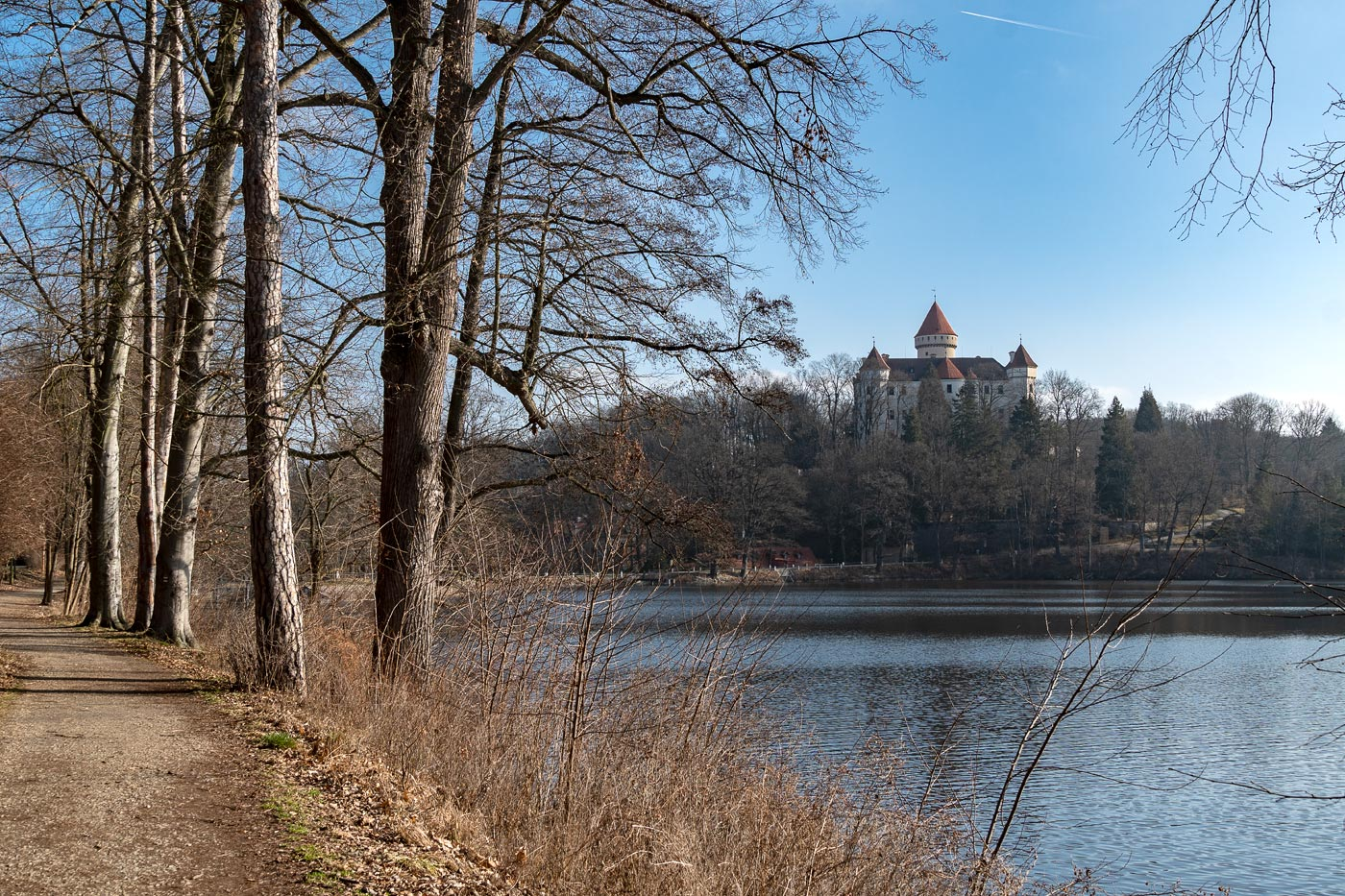 Конец зимы у замка Конопиште