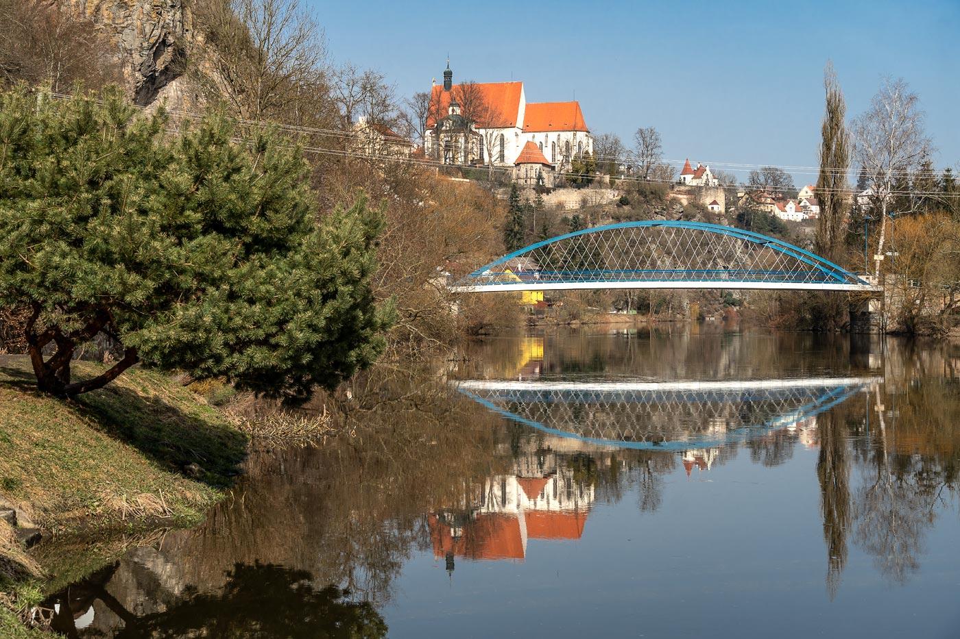 Мост через реку Лужнице