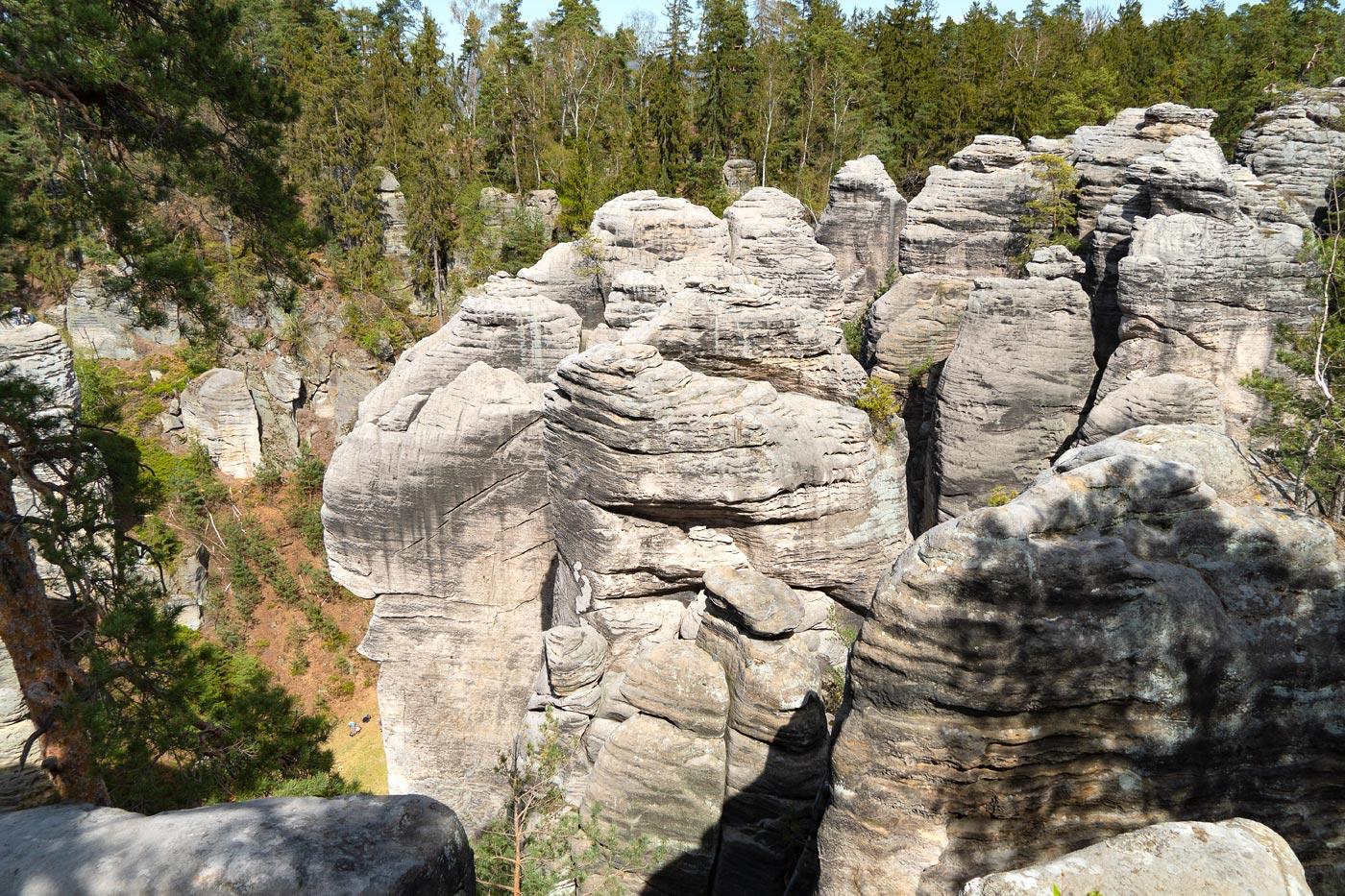 Праховские скалы в Чешском Рае