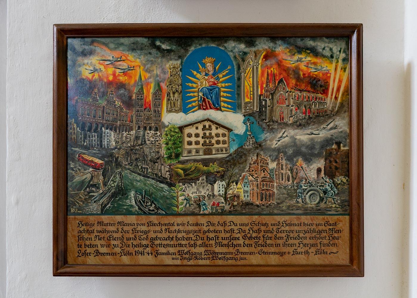 Благодарственная картина в костеле Maria Kirchental